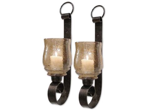 Joselyn Wall Sconce Uttermost Joselyn Small Wall Sconce Candle Holder 2 Set Ut19311