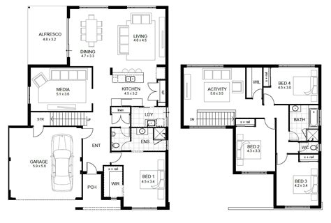 Floorplan Design Awesome Modern Home Design Featuring Concrete Wc And Master Bathroom Plan Idea And Stained