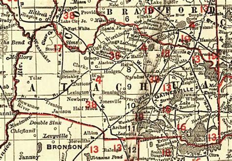 map of gainesville fl florida railroads alachua county 1900