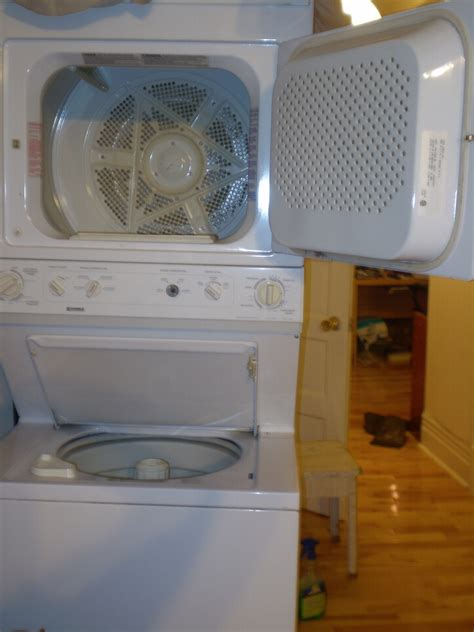 stackable washer and dryer sears my kenmore stackable washer and dryer model no 970 17802 50 begins a spinning