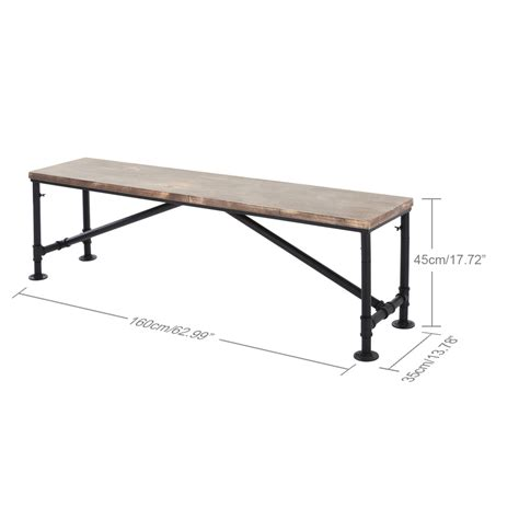 rustic wood dining table with bench wood ikayaa rustic pinewood top kitchen dining table bench
