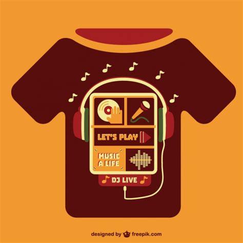 Di Tshirt concetto di musica modello di t shirt scaricare vettori
