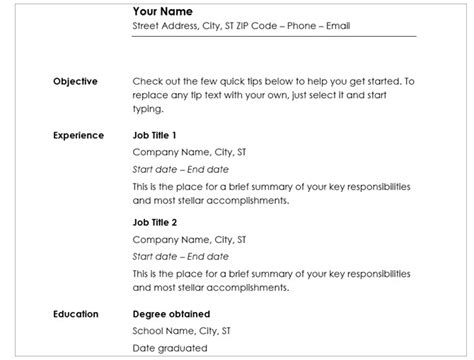 20 Free Resume Templates For Word That Ll Help You Land A Job Chronological Resume Template Word