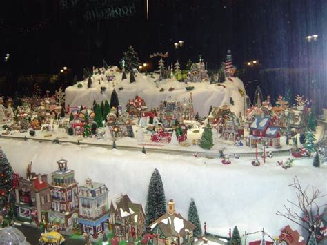 christmas village snow blankets with lights 8 best lighted ceramic villages and houses images on