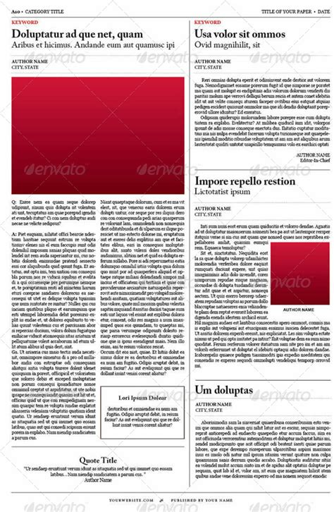Old Style Newspaper Template By Tedfull Graphicriver Newspaper Style Menu Template