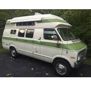 1976 Chrysler Dodge B30 Tradesman 300 Coachmen Camper Hi Top Van Rare