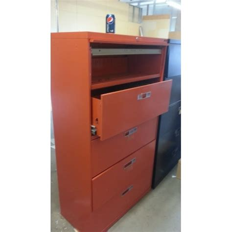 5 drawer locking lateral file cabinet orange locking lateral filing cabinet 5 drawer flip front