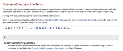 section 801 clinical trial new style and new content for clinicaltrials gov nlm