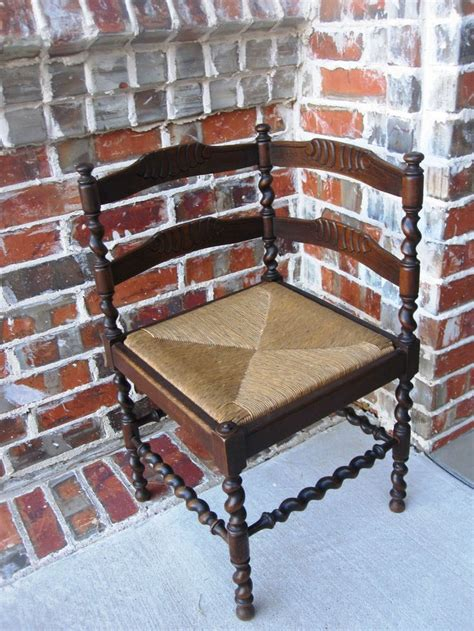 provincial ladder back chairs antique country oak barley twist ladder back