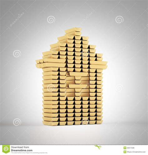 house made of gold gold bars house royalty free stock image image 26017936