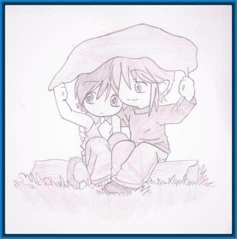 imagenes de parejas romanticas para dibujar imagenes de anime enamorado con frases y para dibujar
