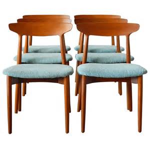 teak dining room furniture six harry ostergaard danish teak dining chairs for randers