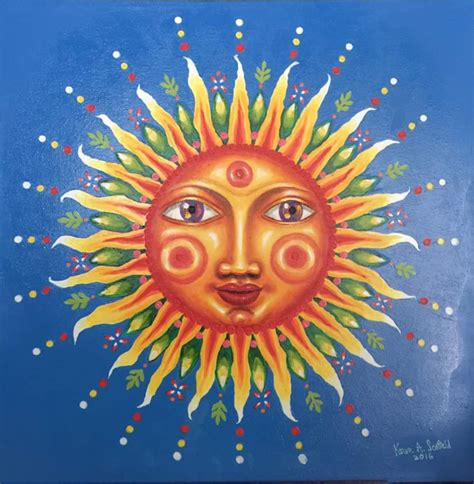 acrylic paint sun my fifth painting is a glow in the anthropomorphized