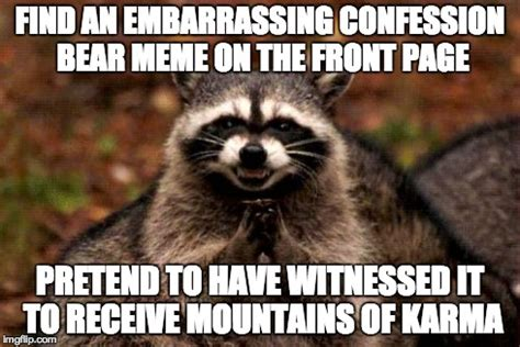 Raccoon Memes - evil plotting raccoon meme find an embarrassing confession
