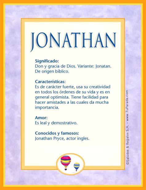 Imagenes De Amor Para Jonathan | jonathan significado del nombre jonathan nombres