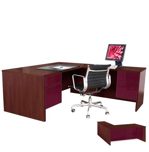 Right Return Desk by L Shaped Executive Computer Desk Right Return Contempo Space