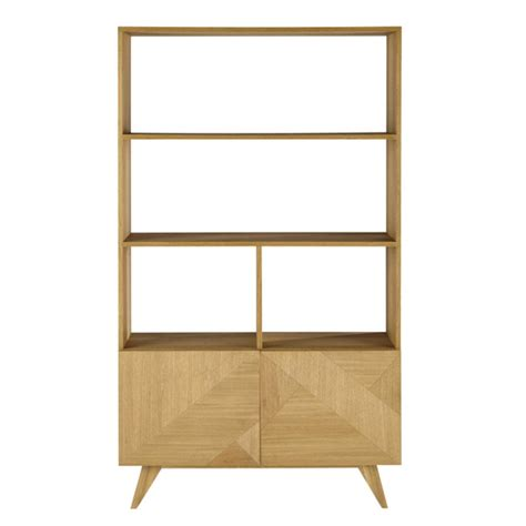 origami bookcase origami retro style wooden bookcase at maisons du monde
