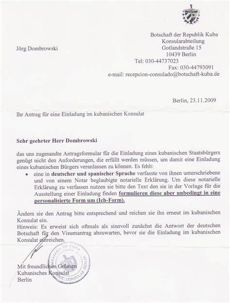 Brief B5 Schweiz Deutschland einladung eines kubanischen staatsb 252 rgers 187 einladung