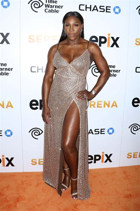 Catwalk To Carpet Serena Williams by Serena Williams Wears High Slit Skirt And Jordans Ahead Of