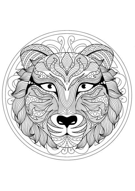 beautiful tiger head mandala mandalas  animals