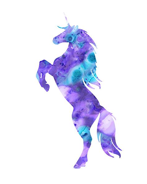 unicorn printable art unicorn print purple unicorn watercolor unicorn by