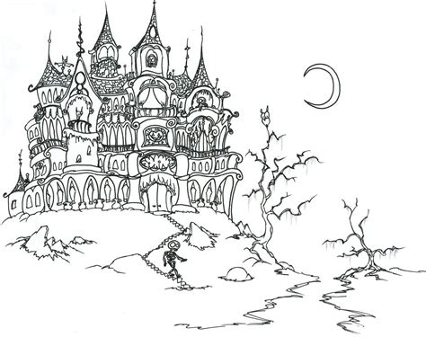 halloween coloring pages castle halloween coloring pages for adults coloring adult