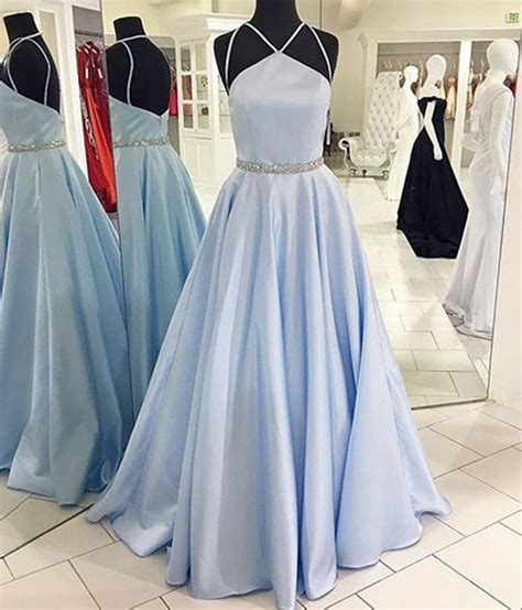 light blue satin dress formal dress light blue satin prom dress formal