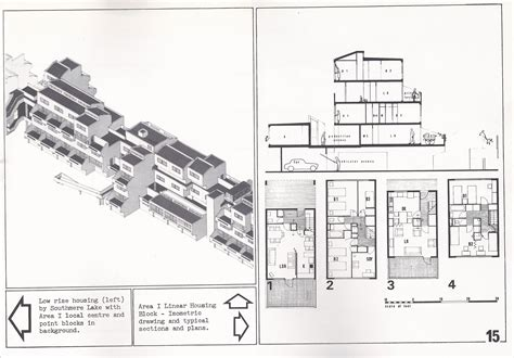 project section original plans and images from the thamesmead housing