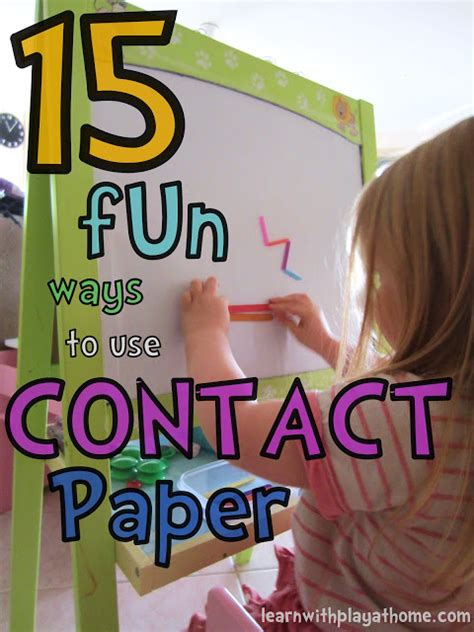 Contact Paper For Crafts - learn with play at home 15 ways to use contact paper