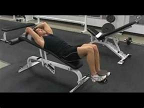 knee on bench dumbbell weighted knee raise incline bench youtube