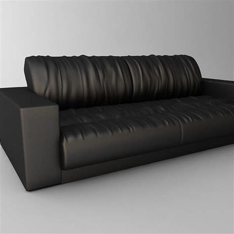 soft leather sofa 3d model max obj 3ds fbx cgtrader