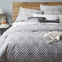 Duvet Cobers Organic Stamped Dot Duvet Cover Pillowcases West Elm