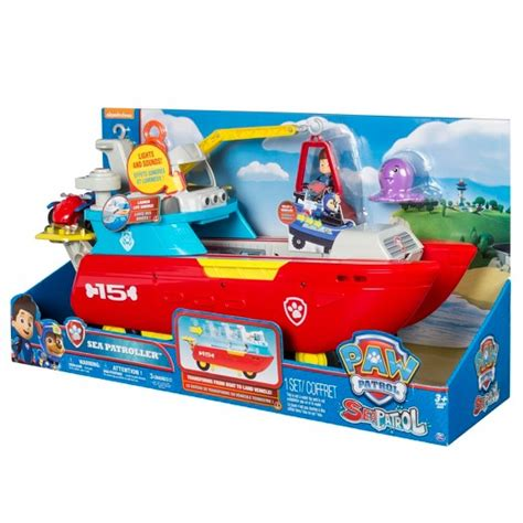 paw patrol boat truck paw patrol sea patrol sea patroller transforming vehicle
