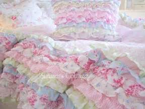 shabby cottage colors chic petticoat ruffles twin or queen