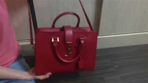 saint laurent monogram cabas review youtube
