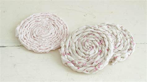 shabby chic coasters diy shabby braided coasters white lace cottage