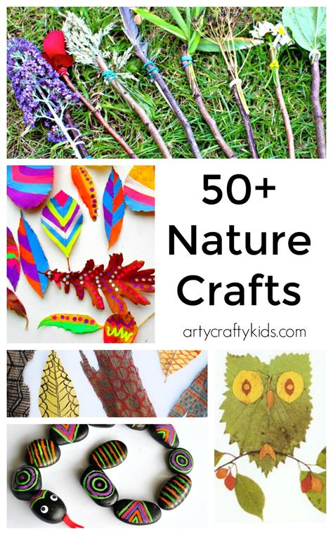 nature craft projects 50 nature crafts for arty crafty