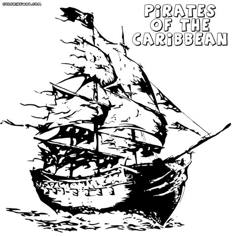 pirates of caribbean coloring pages coloring pages to