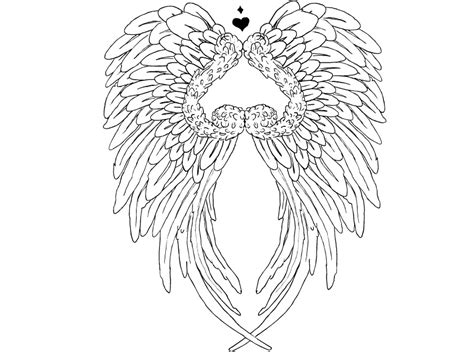 tattoo with angel wings and heart heart with angel wings tattoo angel wings tattoo by