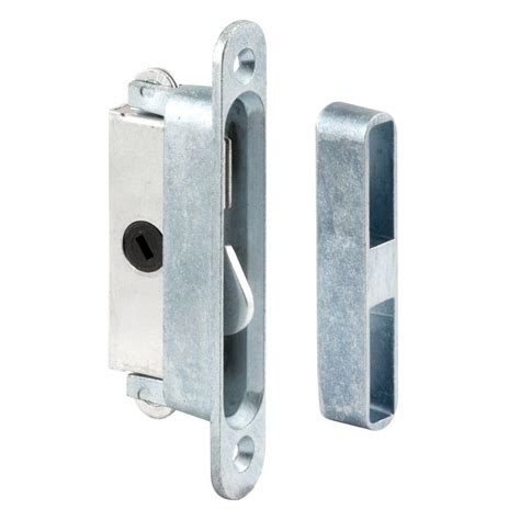 home depot patio door lock prime line sliding door lock and keeper set e 2079 the home depot