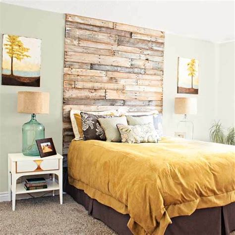 Wooden Headboard Designs 27 Diy Pallet Headboard Ideas 101 Pallets