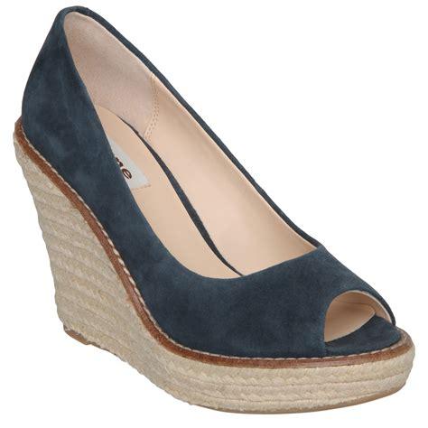 new dune gtamsen womens peep toe wedge espadrille