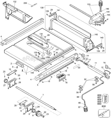 drafting table replacement parts dewalt dw744 parts list and diagram type 1