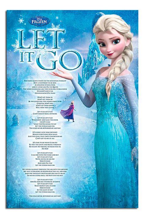 let i go testo frozen let it go song lyrics poster new maxi size