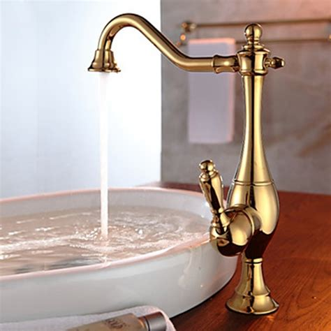 old style kitchen faucets vintage style ti pvd finish curve design gold kitchen