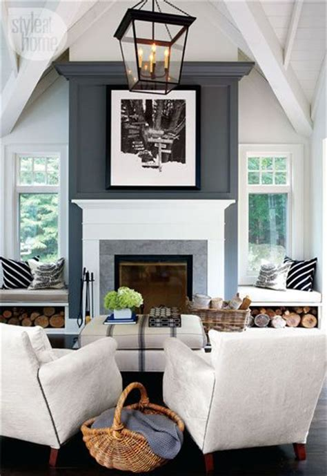 modern cottage decor grey white contrast via belle maison home tour modern