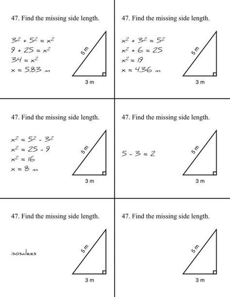math worksheets pythagorean theorem grade 9 math