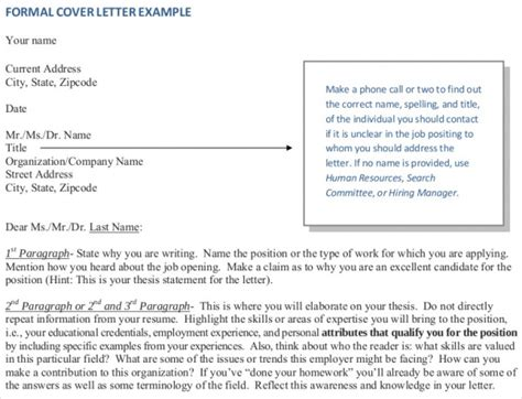 addressing a cover letter 7 sle addressing a formal letter sle templates