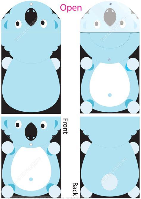 cut  folder template  koala  kids