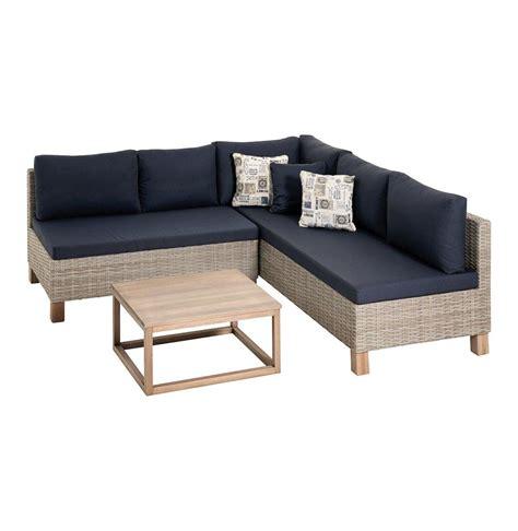 patio furniture prices 1990 mm x 2020 mm nambiti wicker lounge set greige navy